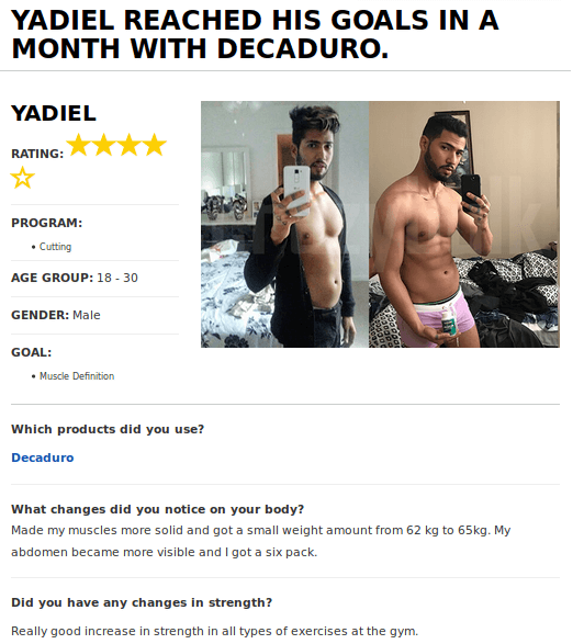 DecaDuro Reviews - DecaDuro Before and After